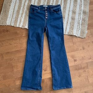 Free People High Rise Button Fly Jeans